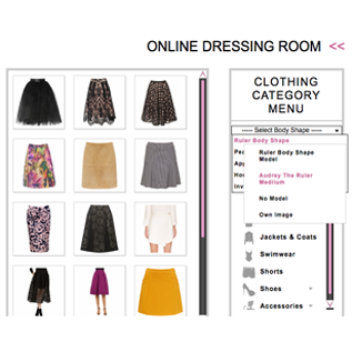 interactive wardrobe clothes menu and image
