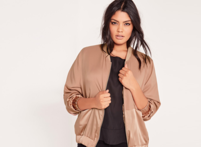 clothes for inverted triangle body shape bomber jacket