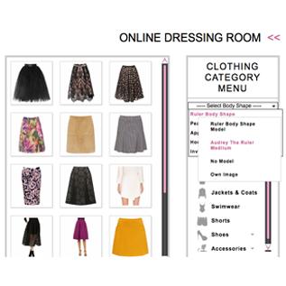 interactive wardrobe clothes menu and image