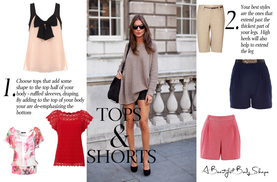Pear Shaped Body Tops And Shorts Style Guide Image A