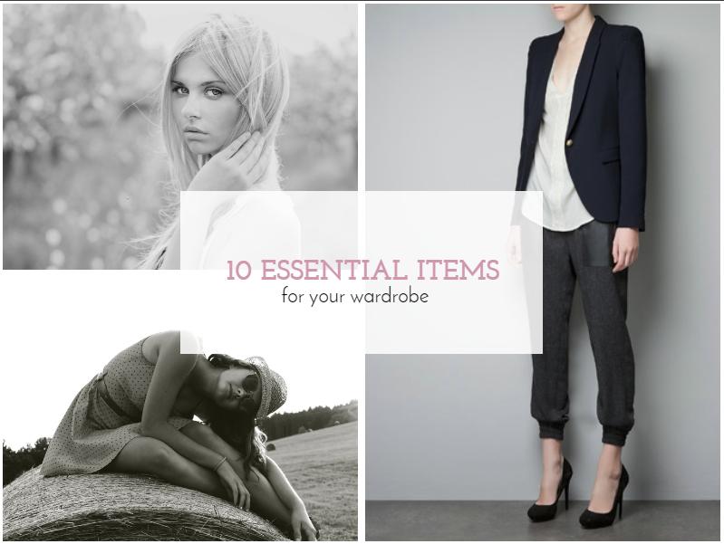 #Desafio: 10 Essential Pieces for My Wardrobe