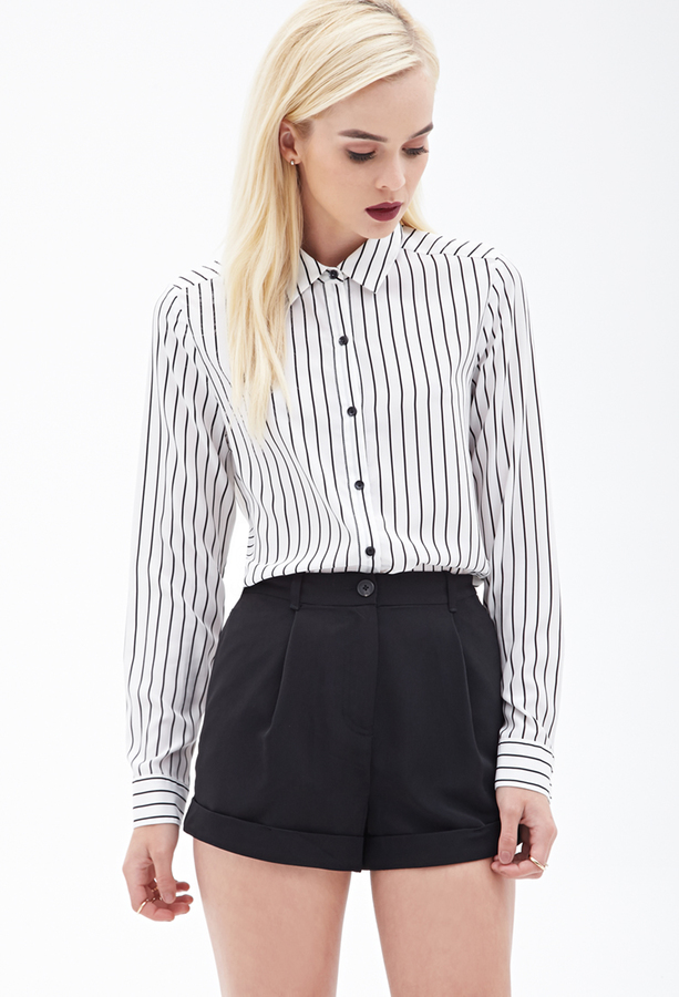 classic white striped shirt