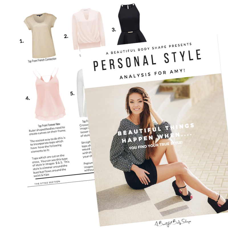 PERSONAL STYLING online style analysis example - A Beautiful Body Shape