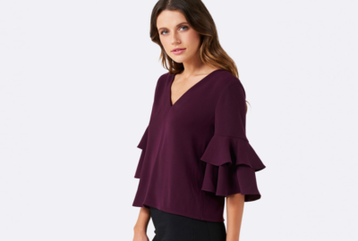 womens puff sleeved tops for the pear shaped body